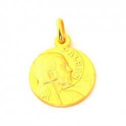 Médaille Saint Alban - plaqué or