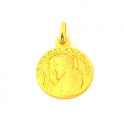 Médaille Saint Alexis - plaqué or