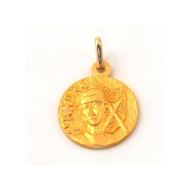 Médaille Saint André - plaqué or