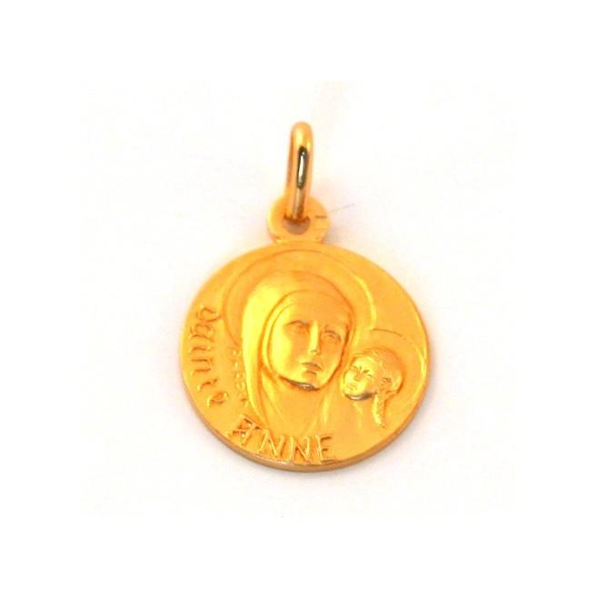 Médaille Sainte Anne - plaqué or