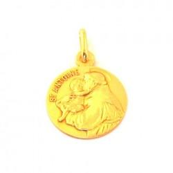 Médaille Saint Antoine - plaqué or