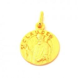 Médaille Saint Claude - plaqué or
