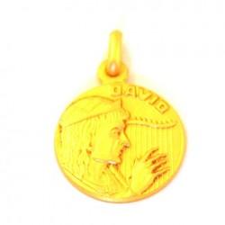 Médaille Saint David - plaqué or