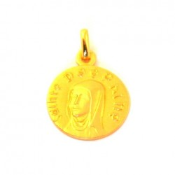 Médaille Sainte Delphine - plaqué or