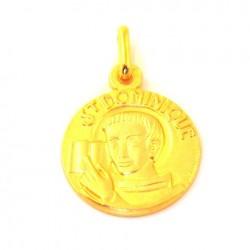 Médaille Saint Dominique - plaqué or