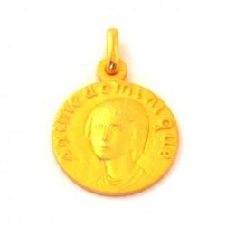Médaille Sainte Dominique - plaqué or