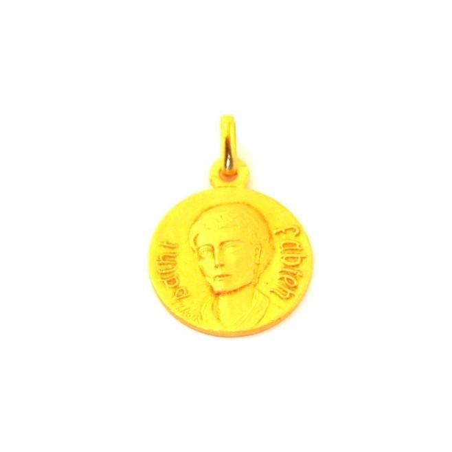 Médaille Saint Fabien - plaqué or