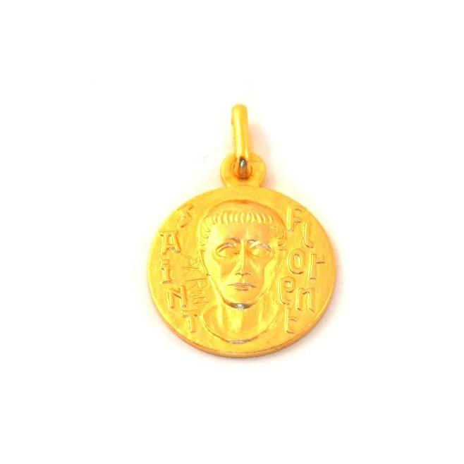 Médaille Saint Florent - plaqué or