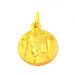 Médaille Saint Gérard - plaqué or