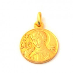 Médaille Saint Gilles - plaqué or