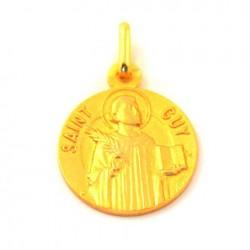 Médaille Saint Guy - plaqué or