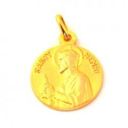 Médaille Saint Henri - plaqué or