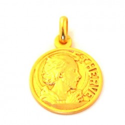 Médaille Saint Hervé - plaqué or