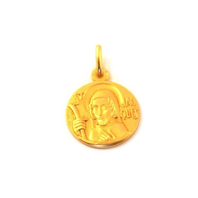 Médaille Saint Jacques - plaqué or