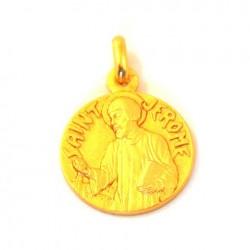 Médaille Saint Jérome - plaqué or