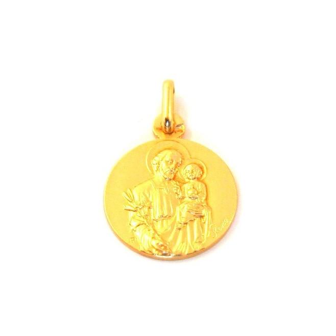 Médaille Saint Joseph - plaqué or