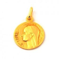 Médaille Sainte Laure - plaqué or