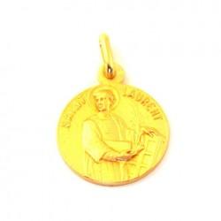 Médaille Saint Laurent - plaqué or