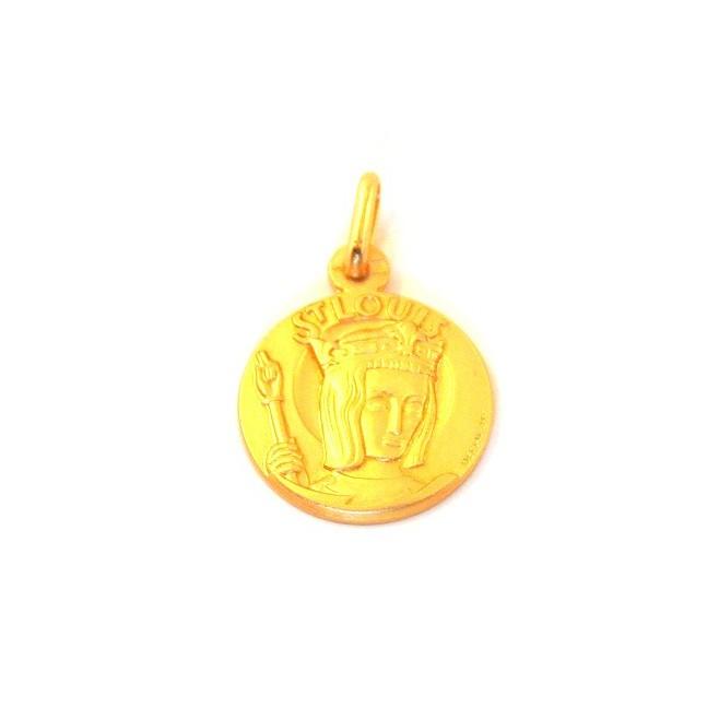 Médaille Saint Louis - plaqué or