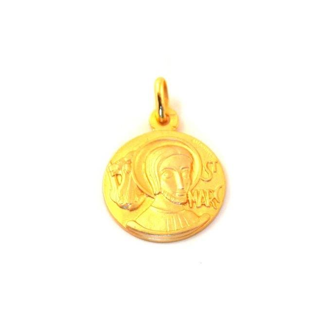 Médaille Saint Marc - plaqué or