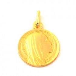 Médaille Sainte Marie - plaqué or