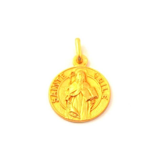 Médaille Sainte Odile - plaqué or