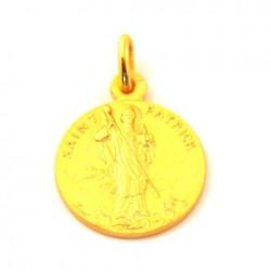 Médaille Saint Patrick - plaqué or