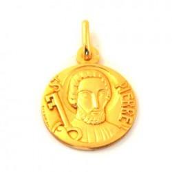 Médaille Saint Pierre - plaqué or