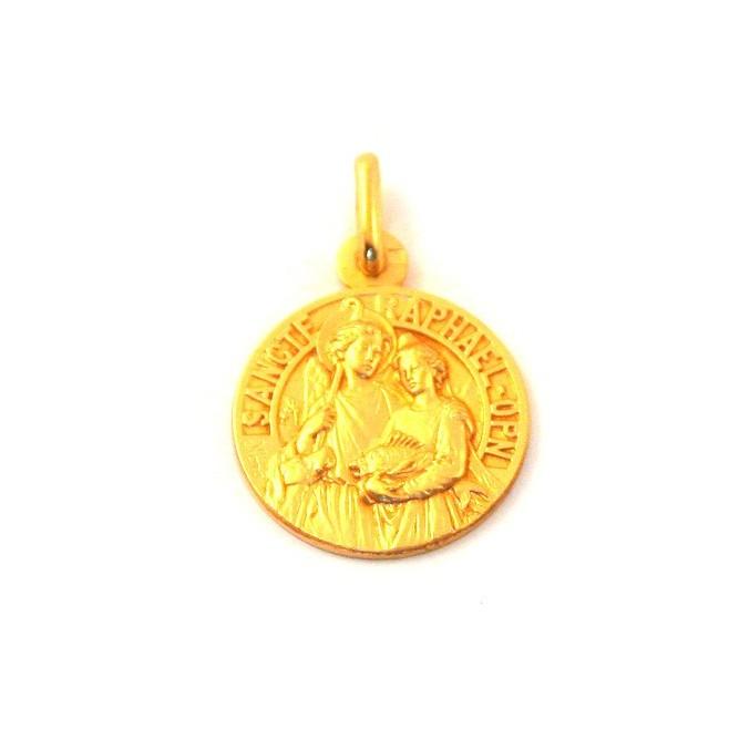Médaille Saint Raphael - plaqué or
