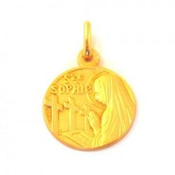 Médaille Sainte Sophie - plaqué or
