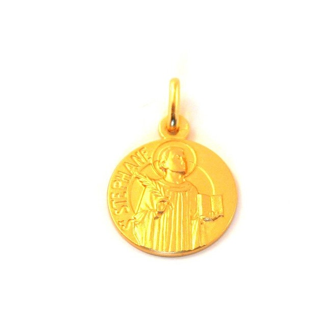 Médaille Saint Stéphane - plaqué or