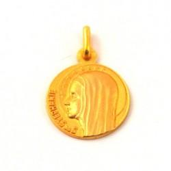 Médaille Sainte Stéphanie - plaqué or