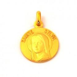Médaille Sainte Sylvie - plaqué or