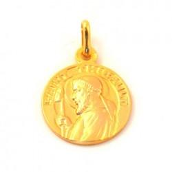 Médaille Saint Thibault - plaqué or