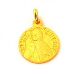 Médaille Saint Thierry - plaqué or