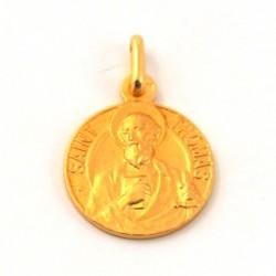 Médaille Saint Thomas - plaqué or