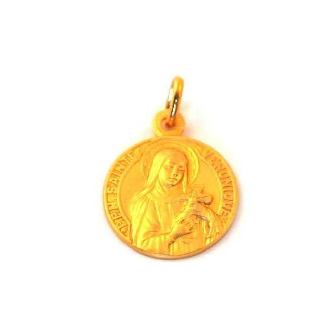 Médaille Sainte Véronique - plaqué or