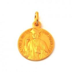 Médaille Saint Yves - plaqué or