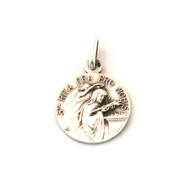 Médaille Sainte Rita - argent