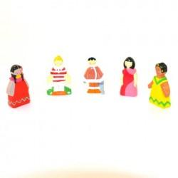 Crèche en bois - 5 Enfants du Monde