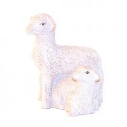Grande Crèche des Soeurs de Bethleem - Brebis et agneau