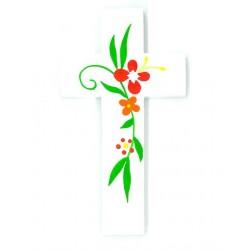 Croix d'Amour - Fleurs rouges
