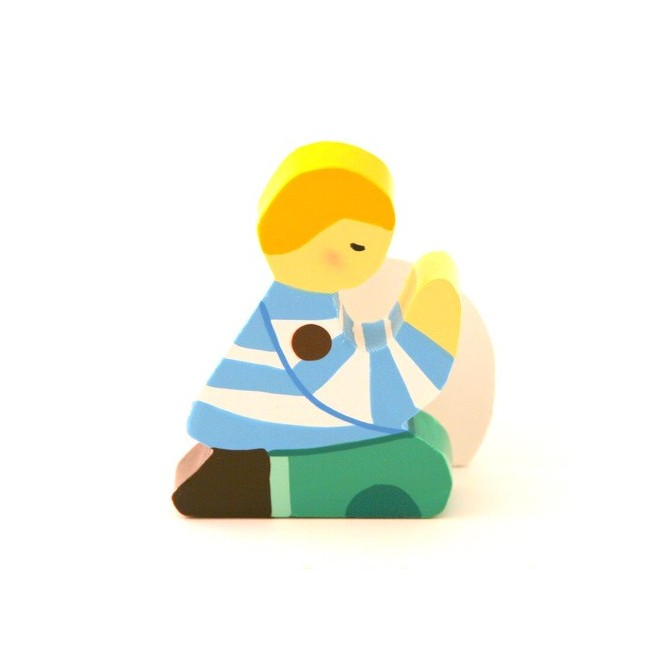 Socle garçon blond Plaquette Prière enfant