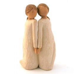 Statue figurine Willow Tree - Deux qui se ressemblent (Two alike)