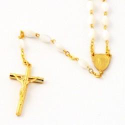 Cadeau de communion - Chapelet de communion nacre véritable