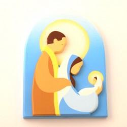 Cadre religieux en bois - Sainte Famille