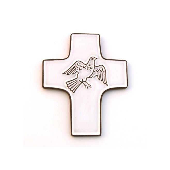"""Croix céramique """"Agneau de Dieu"""""""