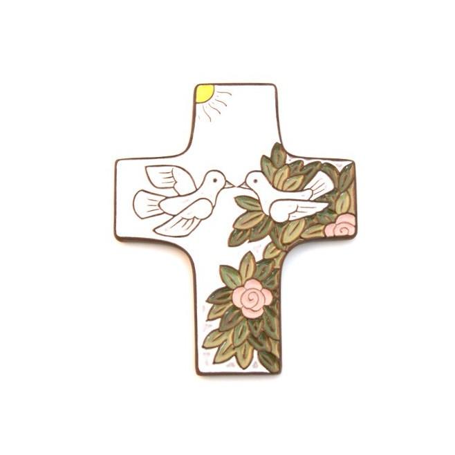 """Croix céramique """"mariage"""""""