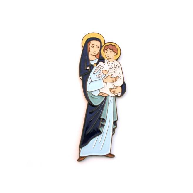 Médaillon céramique Vierge à l'enfant
