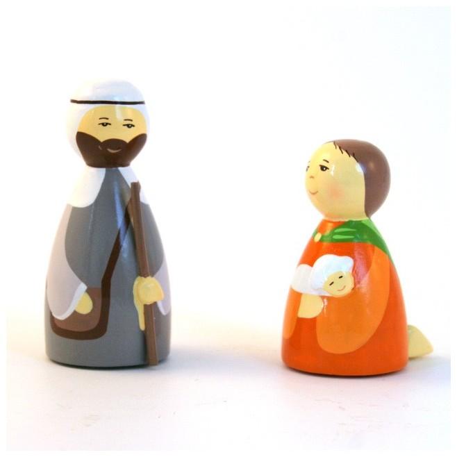 2 bergers - Crèche de Noël en bois